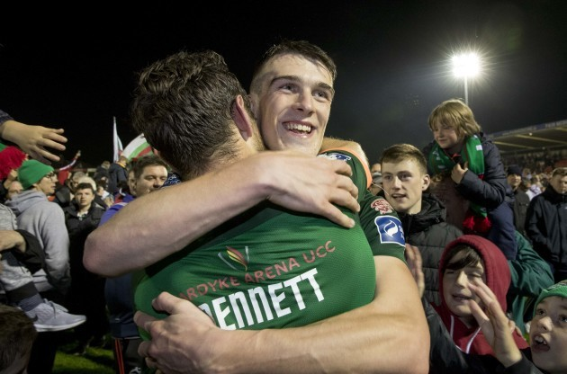 Ryan Delaney and Alan Bennett celebrate
