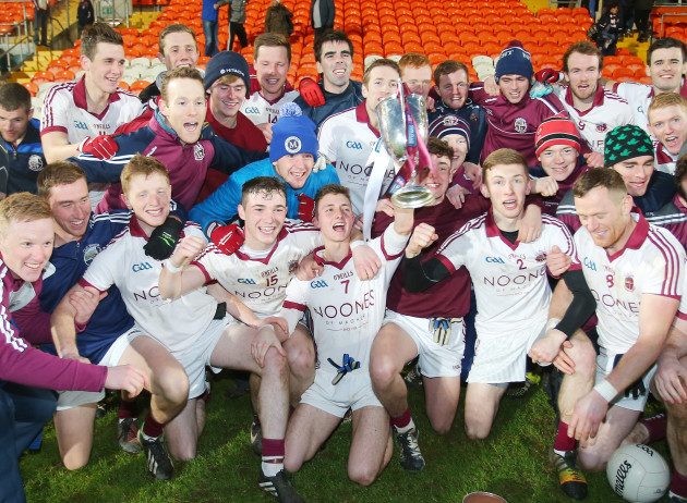 Slaughtneil celebrate with the trophy