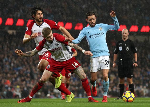 Manchester City v West Bromwich Albion - Premier League - Etihad Stadium