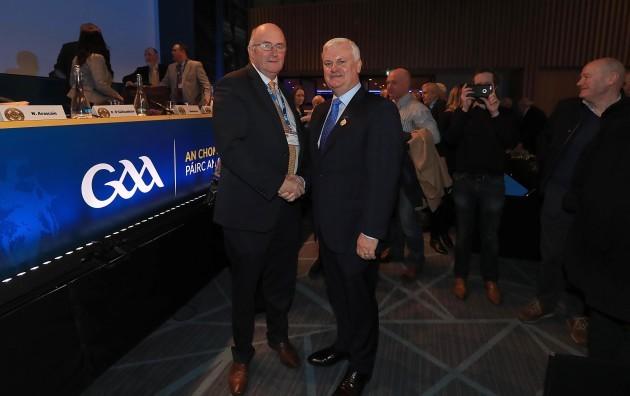 John Horan with Aogán Ó Fearghaíl