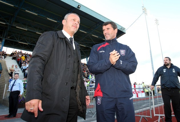 Roy Keane with Stephen Henderson