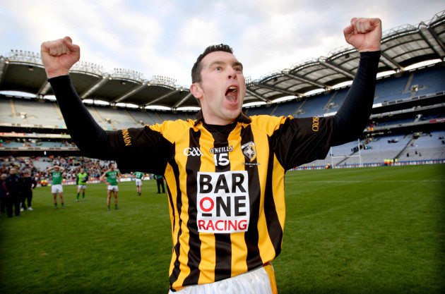 Oisin McConville celebrates after the game