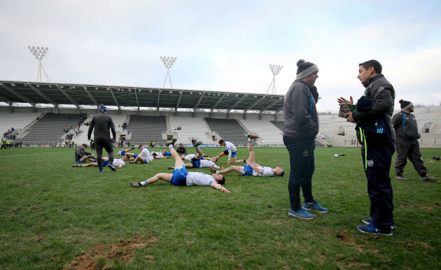 Waterford warm down after the game