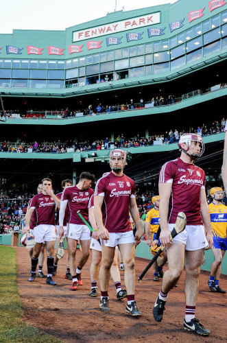Galway players take to the field