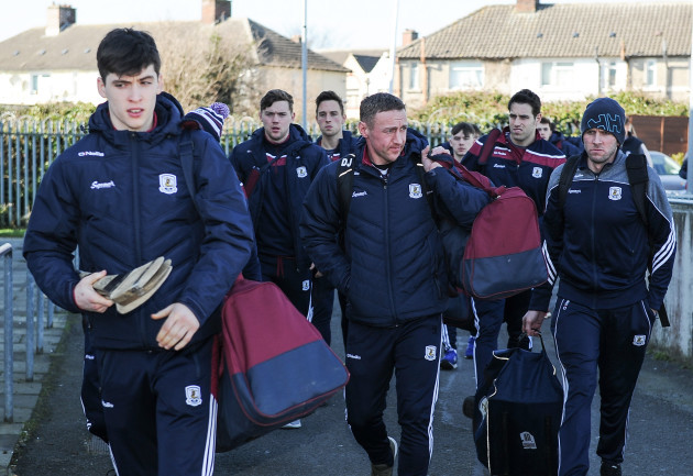 The Galway team arrive