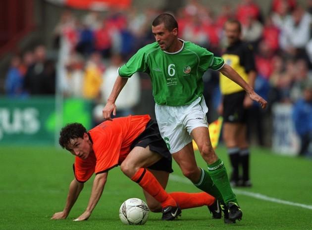 Mark Van Bommel and Roy Keane