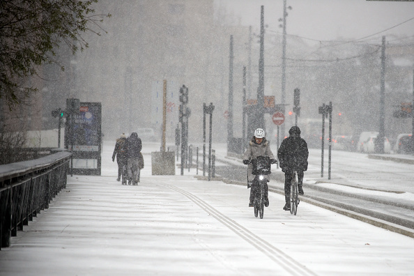 Freezing temperatures, wind and snow in Toulouse