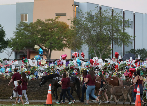Students Return To Class For First Time After Mass Shooting At Florida School