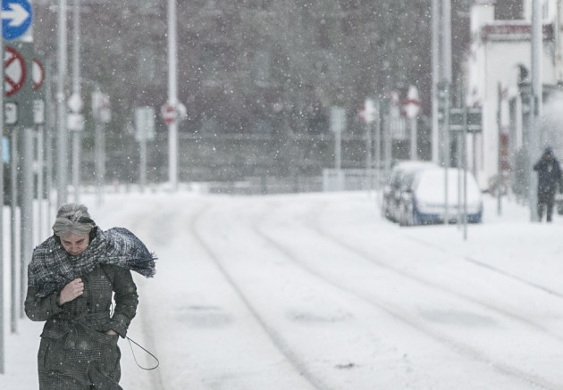 Medical staff sleep in wards and brave dangerous weather to