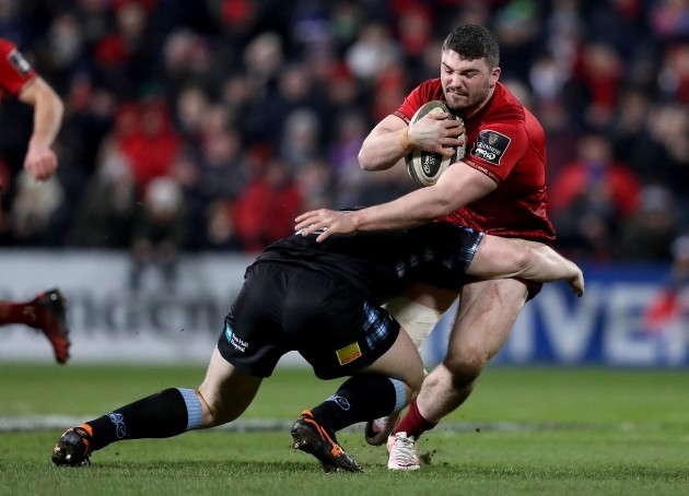 Sam Arnold tackled by James Malcolm
