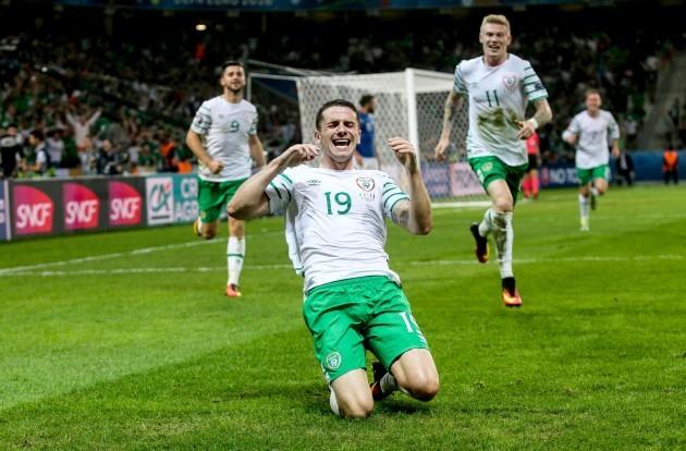 Robbie Brady celebrates scoring his sides first goal