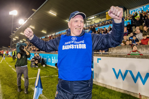Brian Mullins celebrates at the final whistle