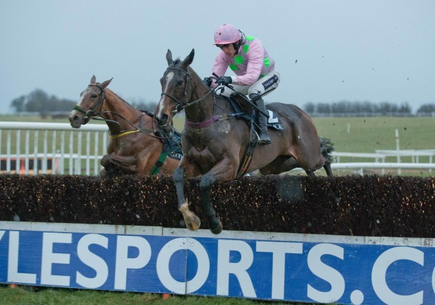 Ruby Walsh clears the last on Vroum Vroum Mag to win