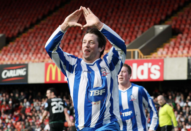 Rory Patterson celebrates