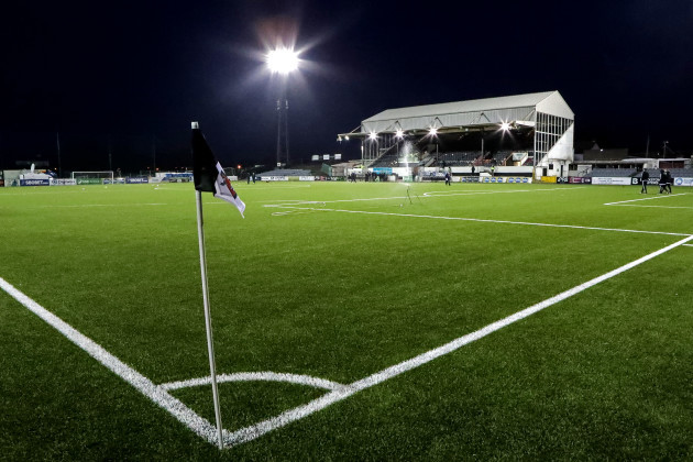 A view of Oriel Park ahead of the match