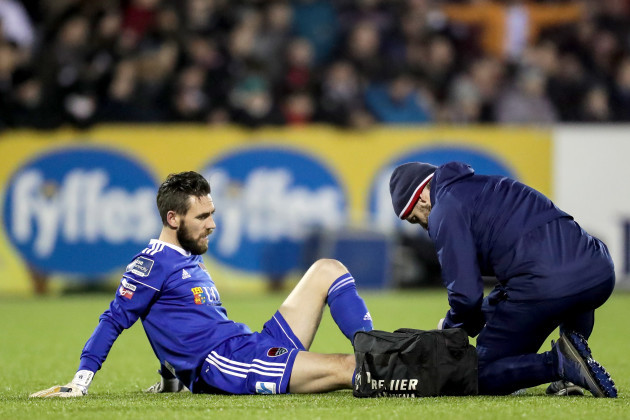 Mark McNulty receives treatment