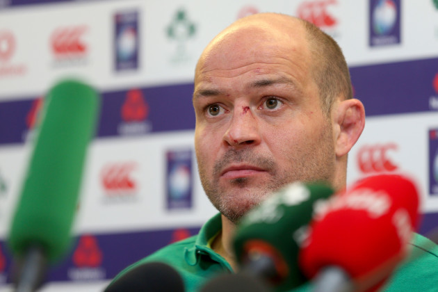 Rory Best during the post match press conference