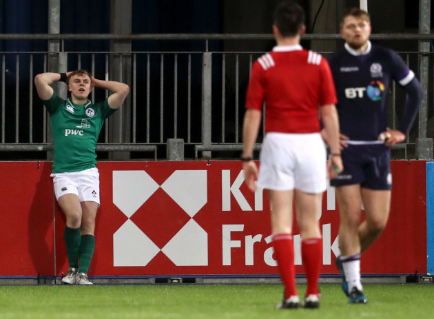 Michael Silvester dejected after Kyle Rowe scored a try