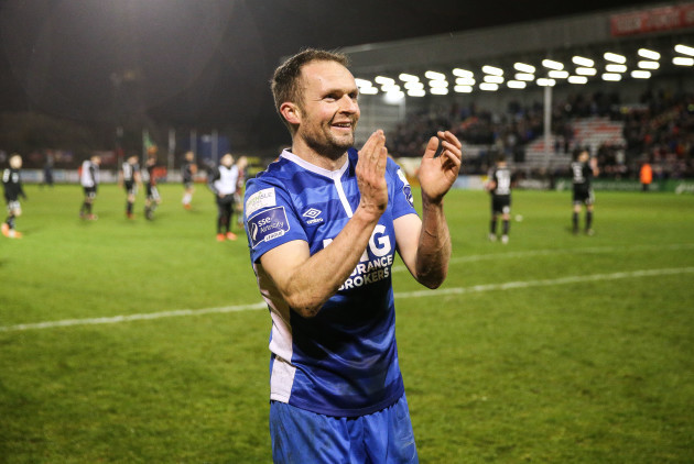 Conan Byrne celebrates after the game