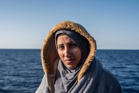 Portraits of Rescued Migrants from SAR Zone