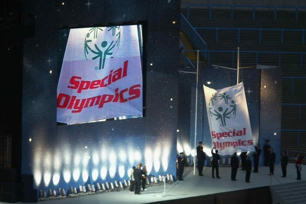 The flag comes down at the closing ceremony