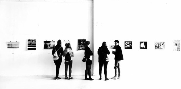 Contrasty Black And White At An Art Gallery