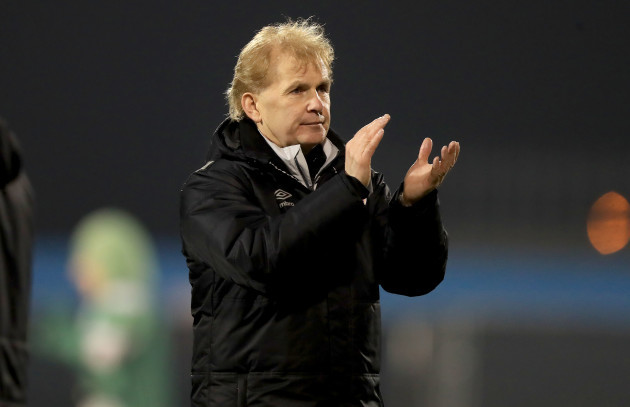 Liam Buckley at the end of the game