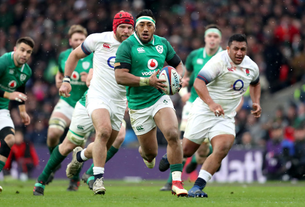 Bundee Aki makes a break