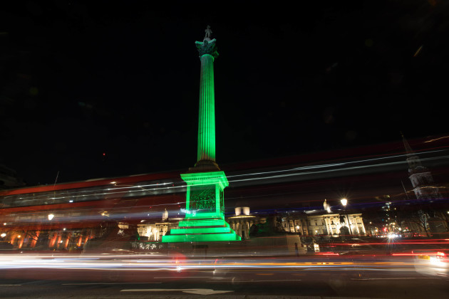 NELSON'S COLUMN, LONDON, JOINS TOURISM IRELAND'S GLOBAL GREE