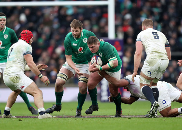 Tadhg Furlong supported by Iain Henderson