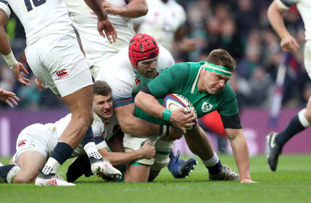 CJ Stander scores a try