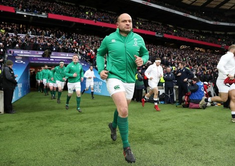 Rory Best leads out the team