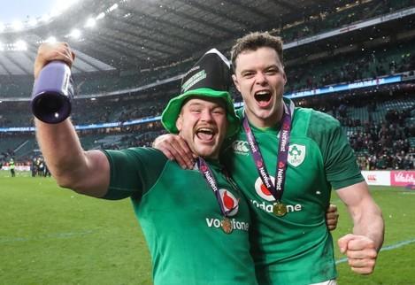 Jack McGrath and James Ryan celebrate winning