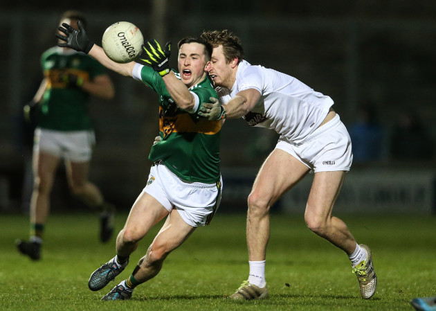 Paul Murphy under pressure from Paddy Brophy