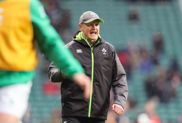 Joe Schmidt during the warm up