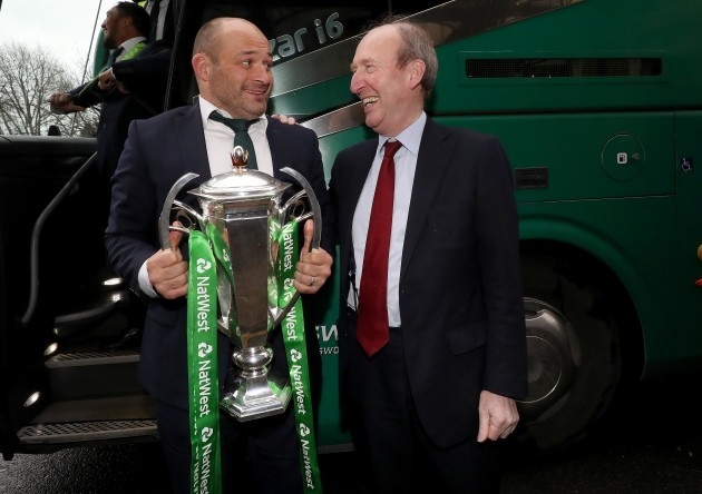 Rory Best and Shane Ross