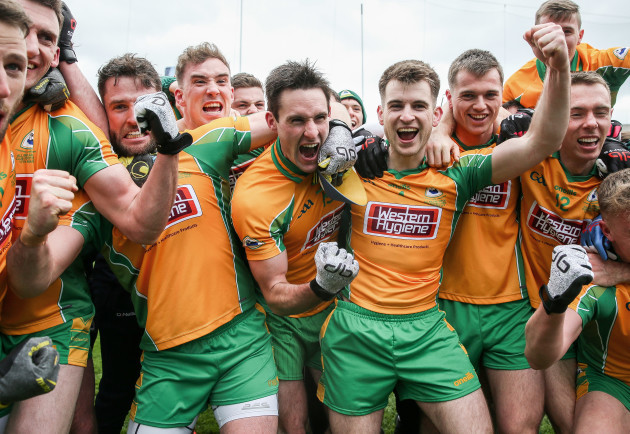 Corofin players celebrate after the game