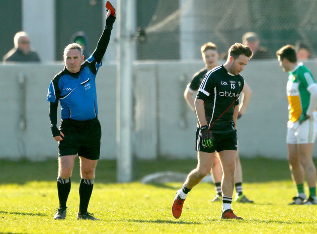 James Molloy red card's Stephen Coen