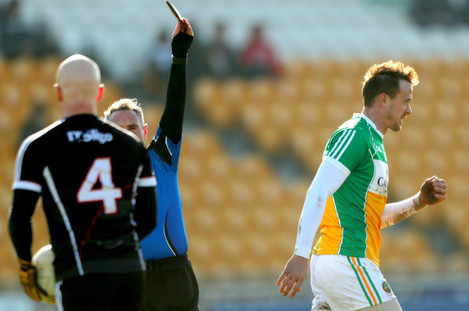James Molloy red cards Conor Carroll