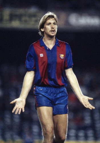 Sport.. Football. pic: 21st October 1987. UEFA. Cup 2nd Round Ist Leg. Bernd Schuster, Barcelona. Bernd Schuster won 21 West Germany international caps, but was often in dispute with the German Football Association.