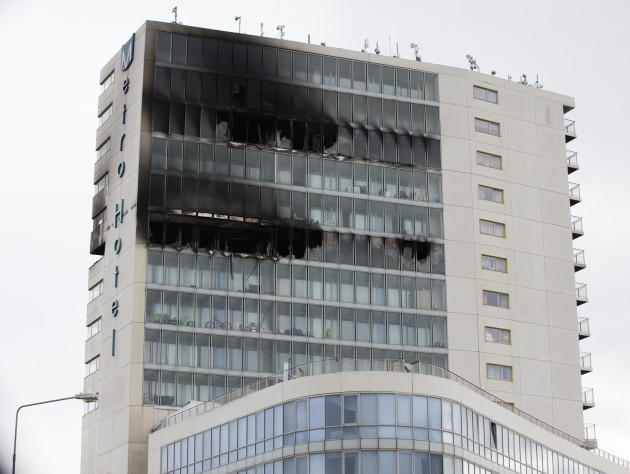 Firefighters question condition of equipment available for fighting the Metro Hotel fire in Ballmun, Dublin