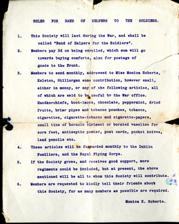 Rules for Band of Helpers to the Soldiers