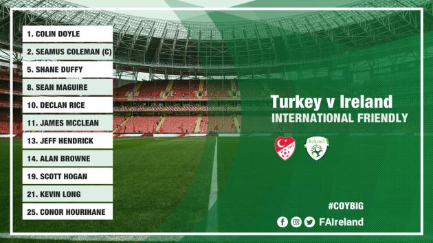 Ireland team Turkey