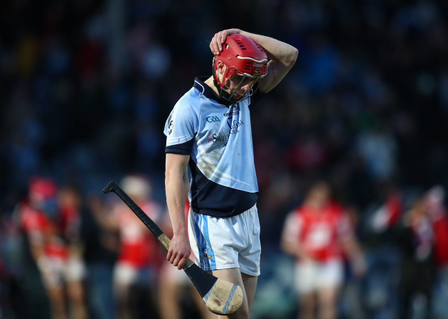 Adrian Breen dejected at the final whistle