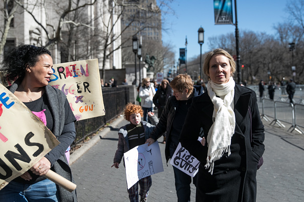 Demonstrators Attend The March For Our Lives Rally Demanding An End To Gun Violence