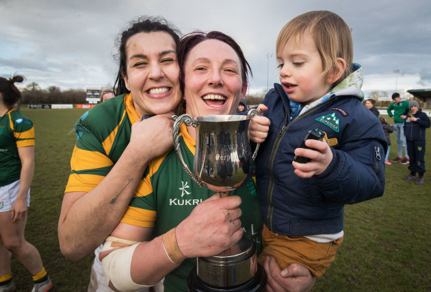 Emma Taylor with Lindsay Peat and Barra after the game