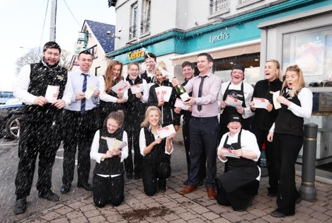 Lottery Celebrations at Lynch's Centra, Crosshaven 25th March 18