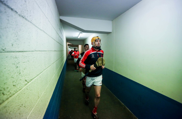 Paul Schutte leads out his team