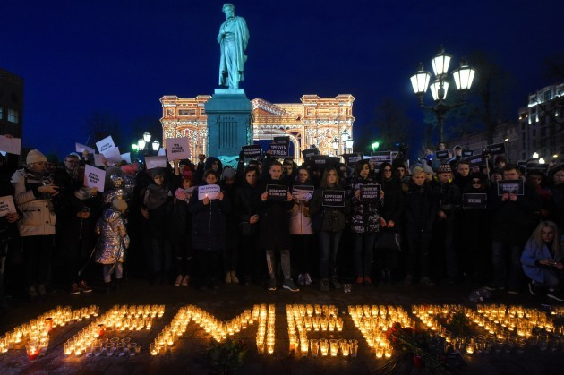 Russia: Memorial for the Victims of Kemerovo Fire