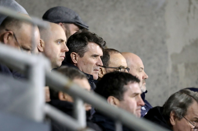Roy Keane attends the game